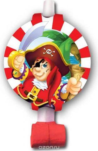 Пати Бум Язык-гудок с карточкой Веселый Пират 6 шт
