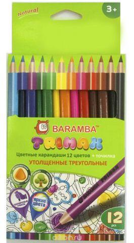 """Набор цветных карандашей Baramba """"Trimax"""", 12 цветов"""