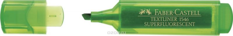 Faber-Castell Текстовыделитель 1546 флуоресцентный цвет зеленый