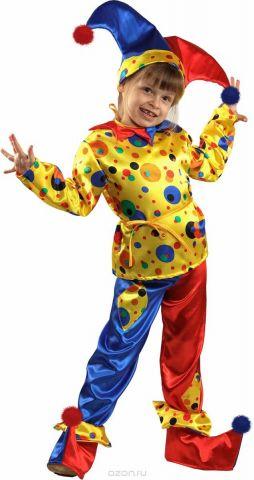Батик Костюм карнавальный для мальчика Петрушка размер 30