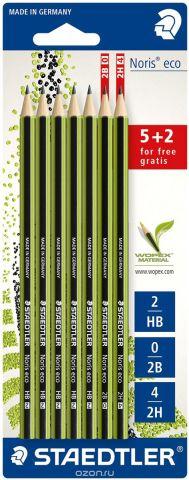 Staedtler Набор чернографитовых карандашей Noris Eco 7 шт