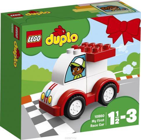 LEGO DUPLO My First Конструктор Мой первый гоночный автомобиль 10860