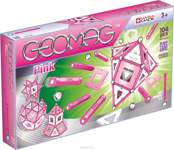 Geomag Конструктор магнитный Pink 104 элемента