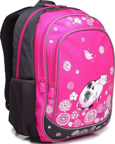 4ALL Рюкзак School цвет серый розовый