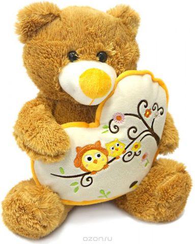 Maxitoys Мягкая игрушка Мишка Берни с сердцем 30 см