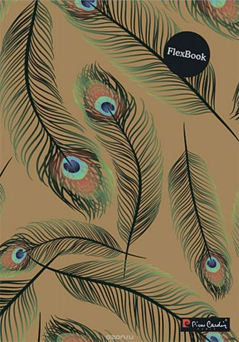 Pierre Cardin Тетрадь Peacock 80 листов в клетку цвет бежевый формат A4