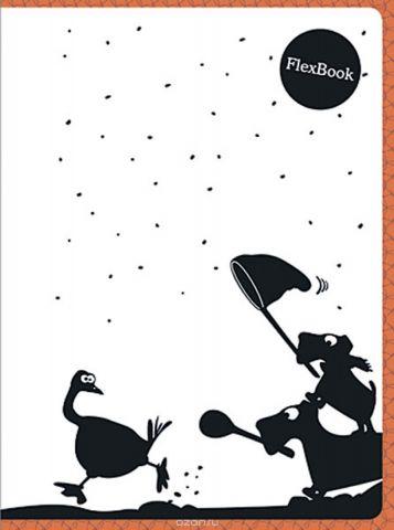 Expert Complete Тетрадь Animals 80 листов в клетку цвет белый черный оранжевый формат A5