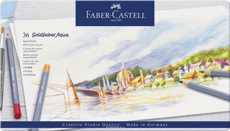 Faber-Castell Набор цветных акварельных карандашей Goldfaber Aqua 36 цветов