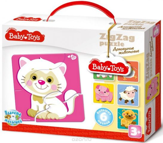 Baby Toys Пазл для малышей Зигзаг Домашние животные