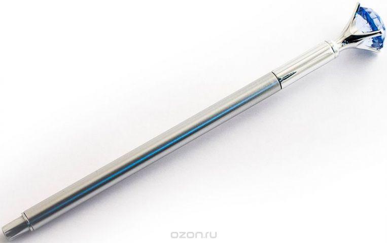 Эврика Ручка гелевая Бриллиант №1 цвет корпуса синий цвет чернил черный