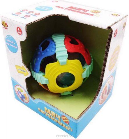 ABtoys Мяч погремушка 2 в 1 со световыми и звуковыми эффектами