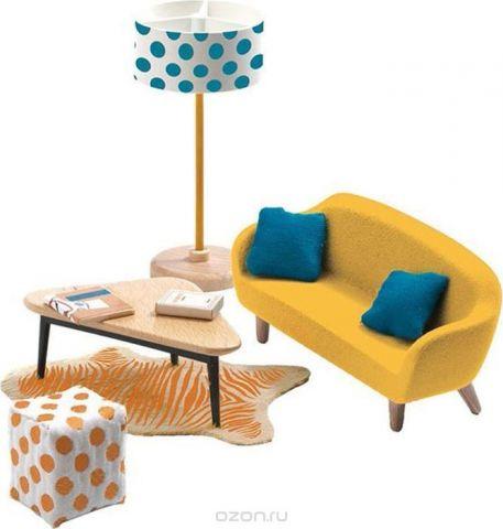 Djeco Мебель для кукол Оранжевая гостиная
