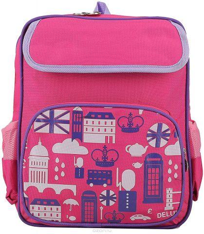 Рюкзак детский Город цвет розовый 2372452