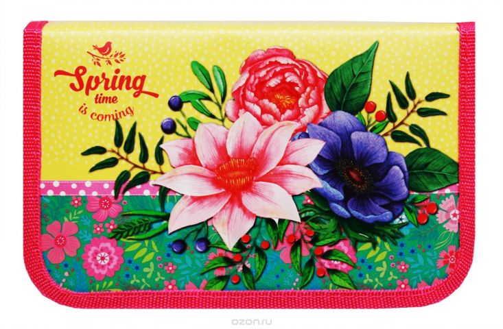 Profit Пенал Весенние цветы ПН-5817