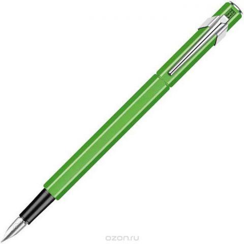 Caran d'Ache Ручка перьевая Office 849 Fluo цвет корпуса: зеленый, цвет чернил: синий