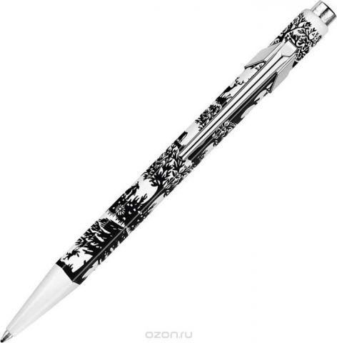 Caran d'Ache Ручка шариковая Office 849 Pop Line цвет корпуса: синий, белый, цвет чернил: синий