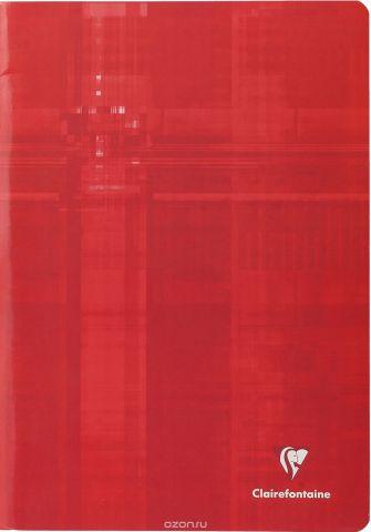 """Тетрадь """"Clairefontaine"""", в клетку, цвет: красный, формат A4, 40 листов"""