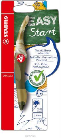 STABILO Роллер Easyoriginal Marbled для правшей, цвет корпуса мраморный оливковый