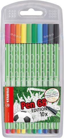 STABILO Набор фломастеров Pen 68 Green Editional 10 цветов