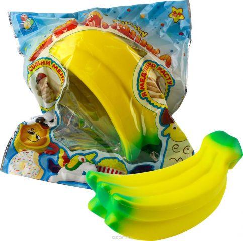1TOY Игрушка-антистресс Мммняшка Squishy Гроздь бананов