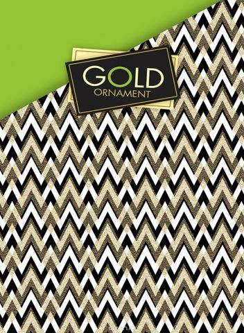 Апплика Тетрадь со сменным блоком Паттерн на золотом 100 листов в клетку