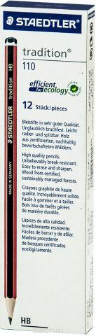 Набор чернографитовых карандашей Staedtler Tradition 110 HB, 12 шт