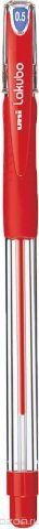 Набор ручек шариковых Uni, Lakubo SG-100, цвет чернил: красный, 0,5 мм. 12 шт