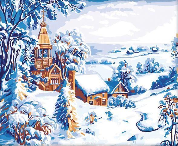 """Картина по номерам Школа талантов """"Зимний пейзаж"""", 2711897, 40 х 50 см"""