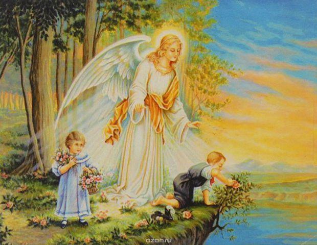 """Картина по номерам Школа талантов """"Ангел хранитель"""", 3462697, 30 х 40 см"""