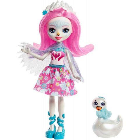 Mattel Enchantimals FRH38 Кукла с питомцем - Лебедь Саффи