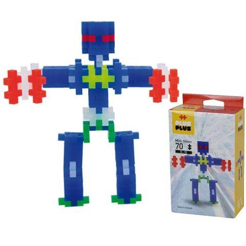 Plus Plus 3753 Разноцветный конструктор для создания 3D моделей(робот коричневый)