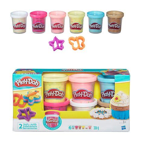 Hasbro Play-Doh B3423 Игровой набор из 6 баночек с конфетти