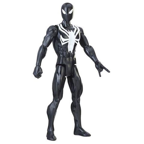 Hasbro Spider-Man E2324/E2344 Фигурка Человека Паука Pow.pack В черном костюме 30 см