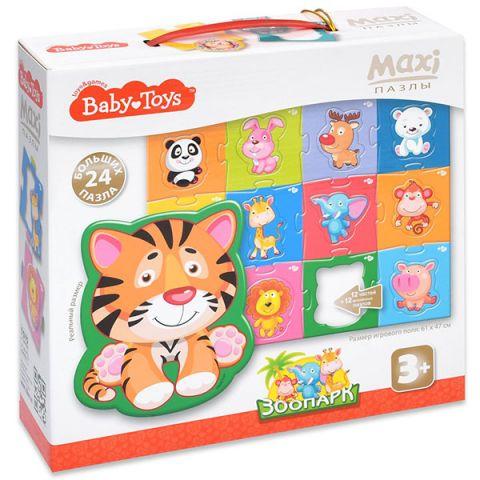 "BABY TOYS TD02508 Пазлы MAXI ""Зоопарк"", (24 эл.)"