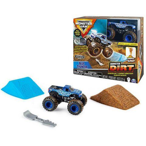 Monster Jam 6045198-BLU Монстр Джем Blue Thunder игровой набор с машинкой и кинетическим песком