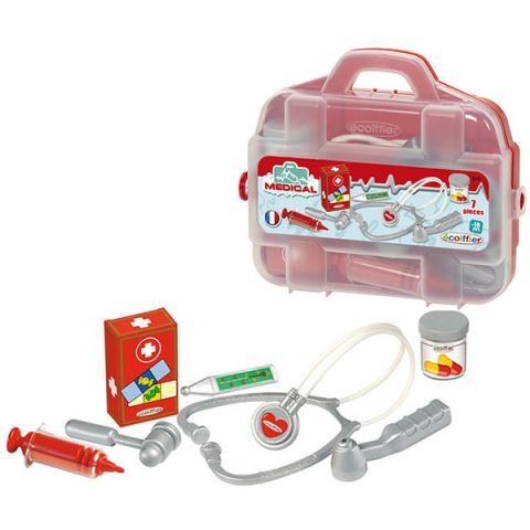 Ecoiffier 249S Набор доктора в чемоданчике - 7 предметов