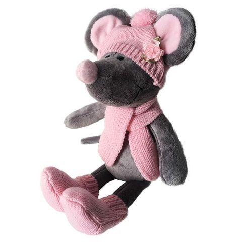 SOFTOY S888/20 Мягкая игрушка Мышь в шапке, 36см