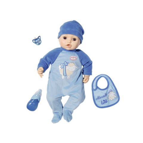 Zapf Creation Baby Annabell 701-898 Бэби Аннабель Кукла-мальчик многофункциональная, 43 см