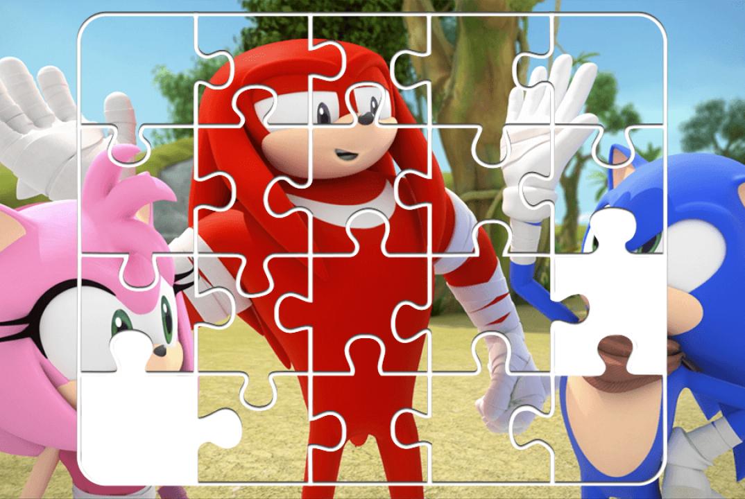 Детская онлайн игра Пазл. Соник Бум играть бесплатно